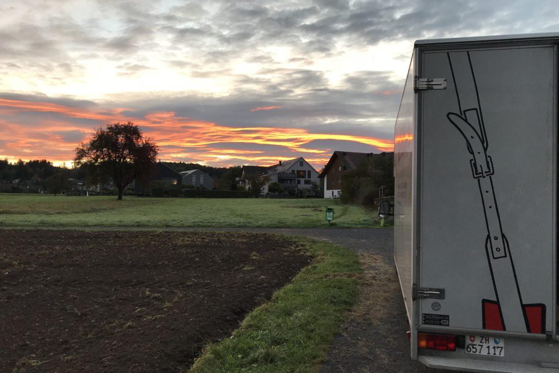 Transport Sonnenuntergang