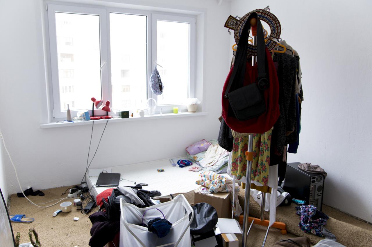 Zimmer zur Räumung und Entsorgung